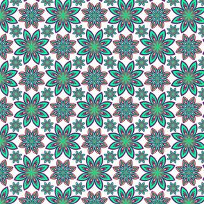 geometric oriental floral