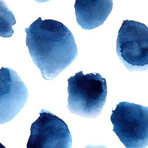 Freshness • huge scale • watercolor blue spots