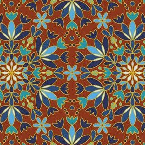Bohemian Caramel Snowflake