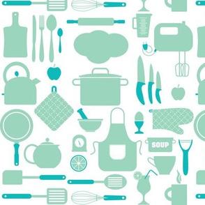 Seamless Classic Kitchen - Blue