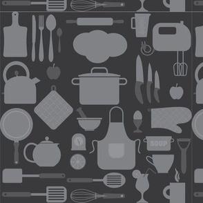 Seamless Classic Kitchen - Grey