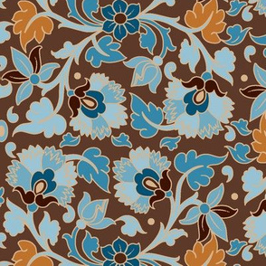 Taj-Brown & Blue-Large