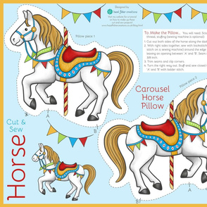 Cut and Sew Carousel Horse - pillow and pouch