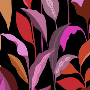 Elegant Red and Pink Leaves