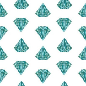 Diamond  Geometric Blue Teal (small)