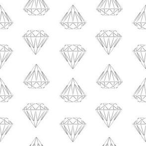 Diamond Geometric Monochrome Sketch (small)