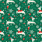 Merry Woodland Reindeer (Evergreen - LARGE)