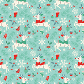 Merry Woodland Reindeer (Light Blue - LARGE)
