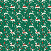 Merry Woodland Reindeer (Evergreen - SMALL)