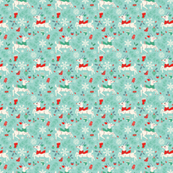 Merry Woodland Reindeer (Light Blue - Small)