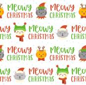 Meowy Christmas on White