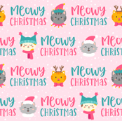 Meowy Christmas on Pink