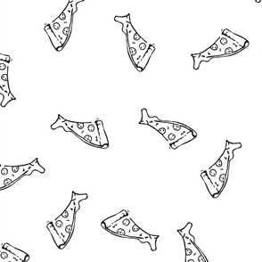 Pizza Pattern black and white