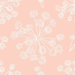 Floral Queen Anne's Lace pink peach