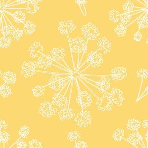 Floral Queen Anne's Lace yellow