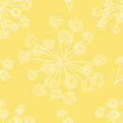 Botanicals- Queen Anne's Lace mustard yellow