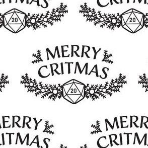 Merry Critmas in Black & White