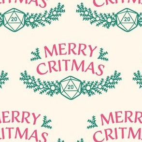 Merry Critmas in Pink & Green