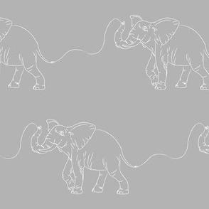 Elephant Sketch Gray (small)