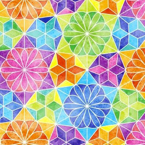 Rainbow mandala kaleidoscope