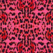 galaxy leopard- red