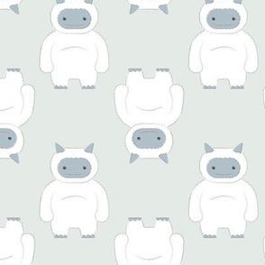 Happy Yeti- Monochrome Blue Gray (small)