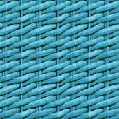 Woven Rattan Wallpaper - Turquoise