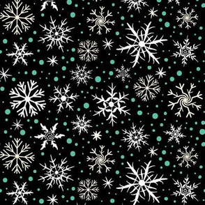 Festive Flakes on Black