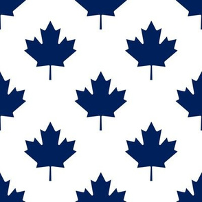 Toronto Maple Leafs Hockey Leaf Polka Dot Team Colors Blue White
