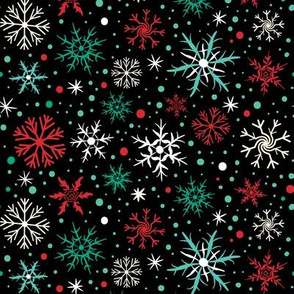 Festive Chroma Flakes on Black