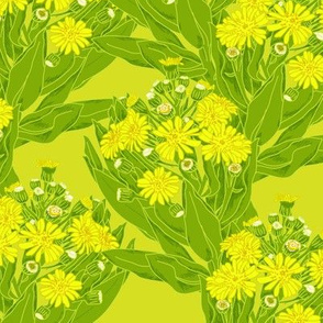 Chatham Island Christmas Tree on Lime Yellow