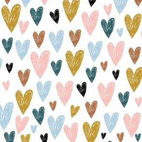 Hand drawn hearts