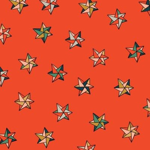 Christmas stars red