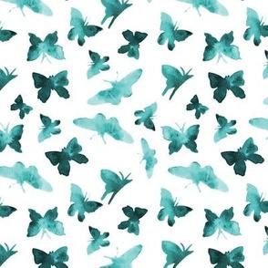 Emerald butterflies • watercolor