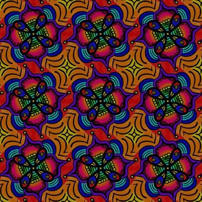Orange Boho Mandala Pinwheel