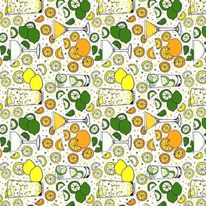 Citrus pop on white tea towel