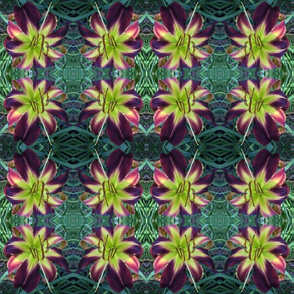 Chief4Fingers daylily fabric