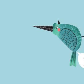 Birds With Atti- Toot Tea Towel