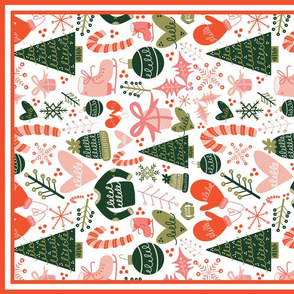 Christmas Icons Tea Towel