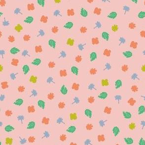 Scattered plants pink