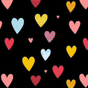 Love Hearts black