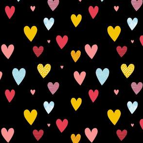 Love Hearts black small