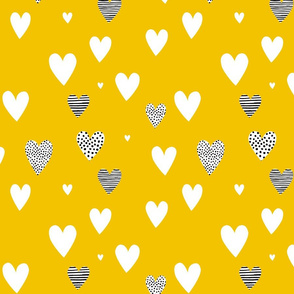 Love Hearts yellow
