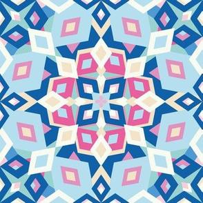 kaleidoscope pastel rose