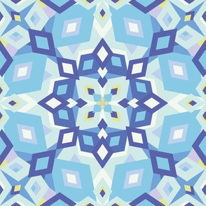 kaleidoscope pastel light blue