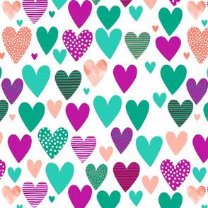 Love Hearts 2 green