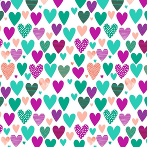 Love Hearts 2 green small