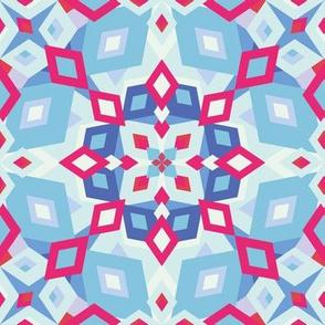 kaleidoscope pastel and pink
