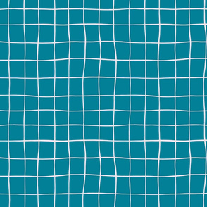 Wiggly Plaid- Aqua