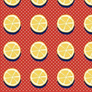 pop art citrus collection - dots and lemons-01